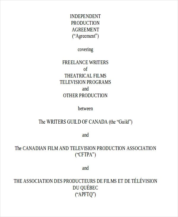 Production Contract Agreement Film Location Release Contract - production contract agreement