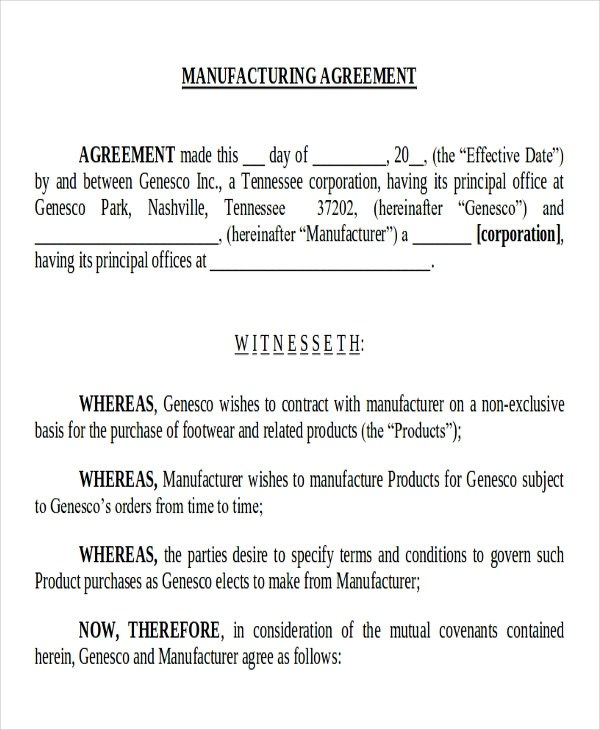 Sample Contract For Supply Of Goods  Resume Maker Create