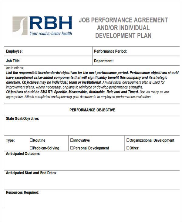 employee performance contract - Ozilalmanoof - performance contract templates