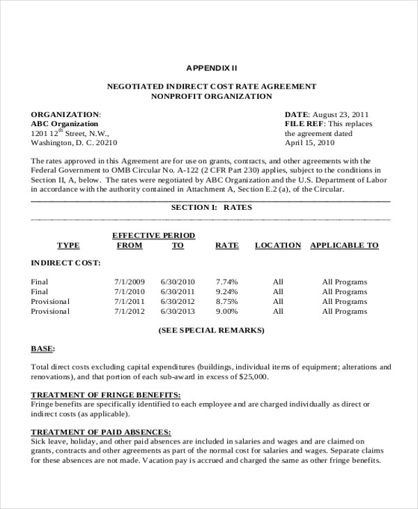 Civil Contract Agreement Format | Create Professional Resumes