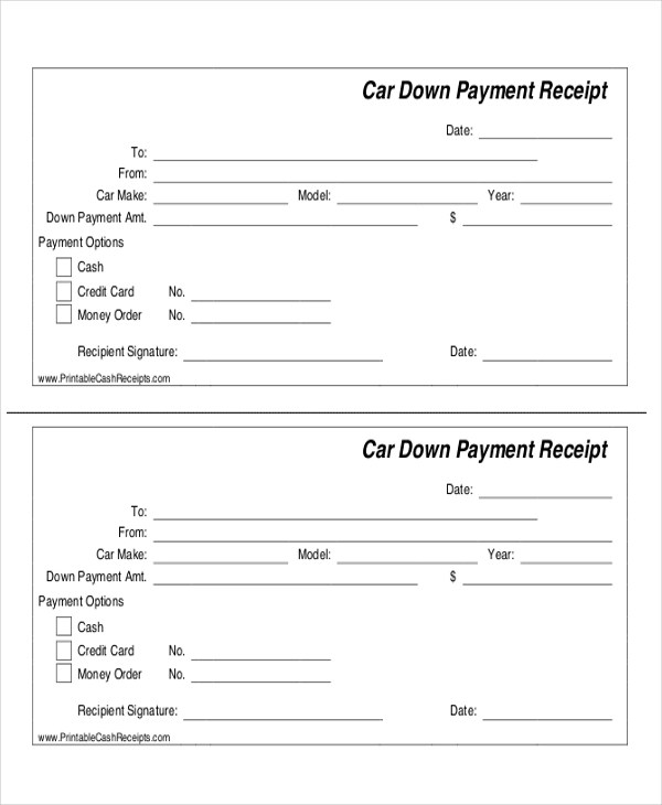 7+ Sample Payment Receipt Forms - Free Sample, Example, Format Download