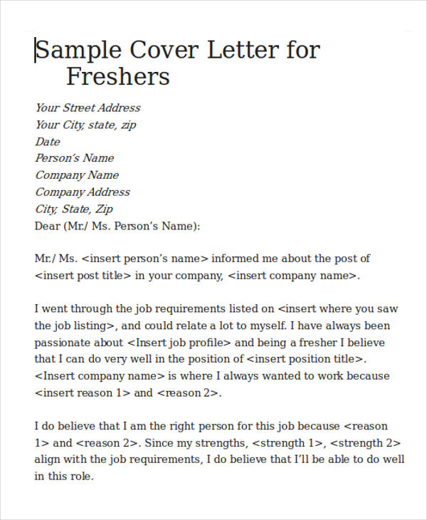 5+ Cover Letters for Software Engineer Sample Templates - Cover Letter To A Company