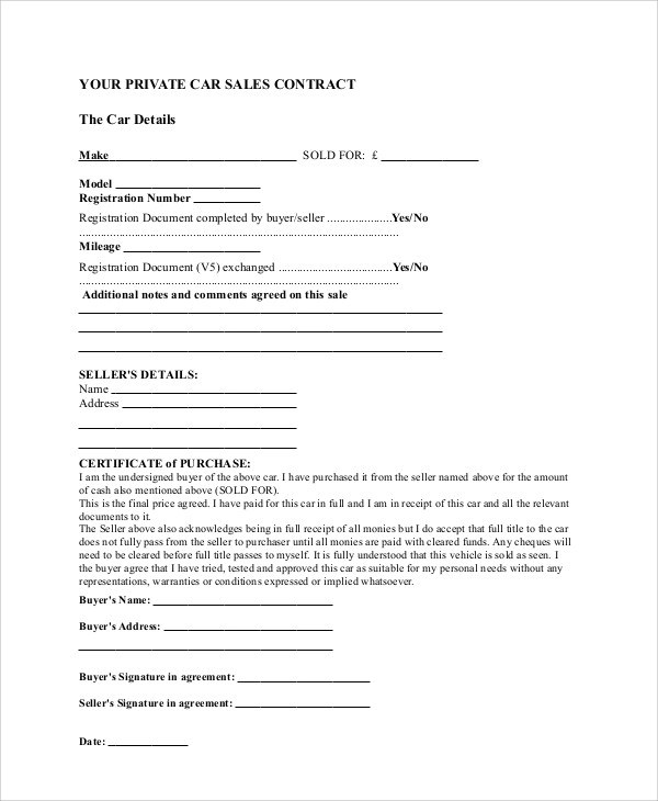 sales contract template word - Onwebioinnovate - sales contract