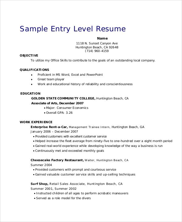 objective for resume examples for sales