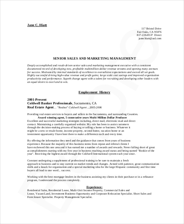 10+ Marketing Resume Examples Sample Templates