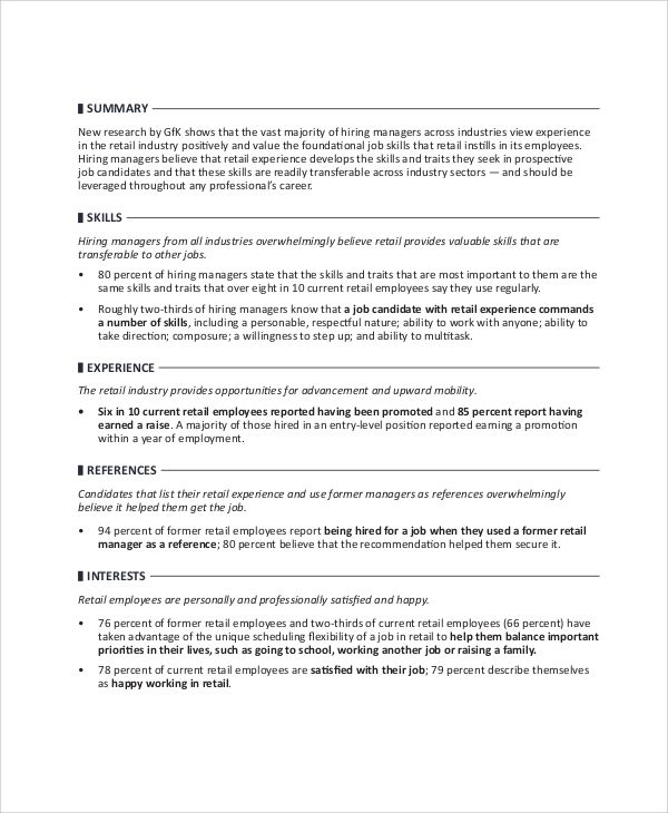 retail manager resume examples 2017