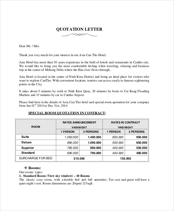 ... Company Quotation Sample Business Letter Format Quotation   Quotation  Letter ...  Company Quotation Format