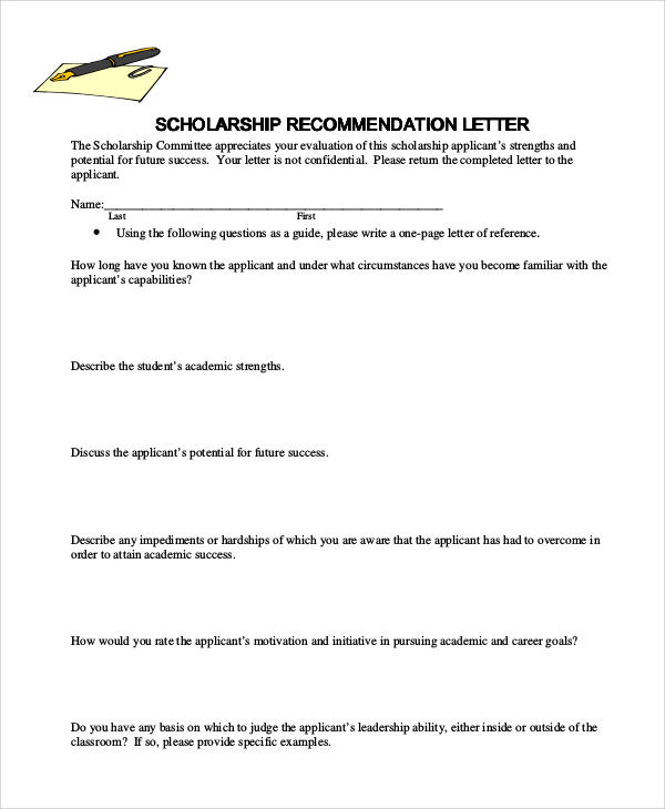 36+ Recommendation Letter Format Samples Sample Templates