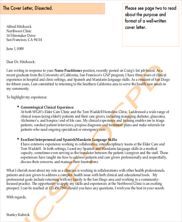 Graduate Nursing Cover Letter - 7+ Examples in Word, PDF