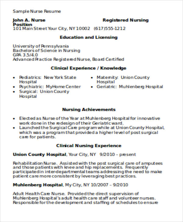 Nursing Resume Example Cna Resume Examples With Experience Cna - resume templates 101