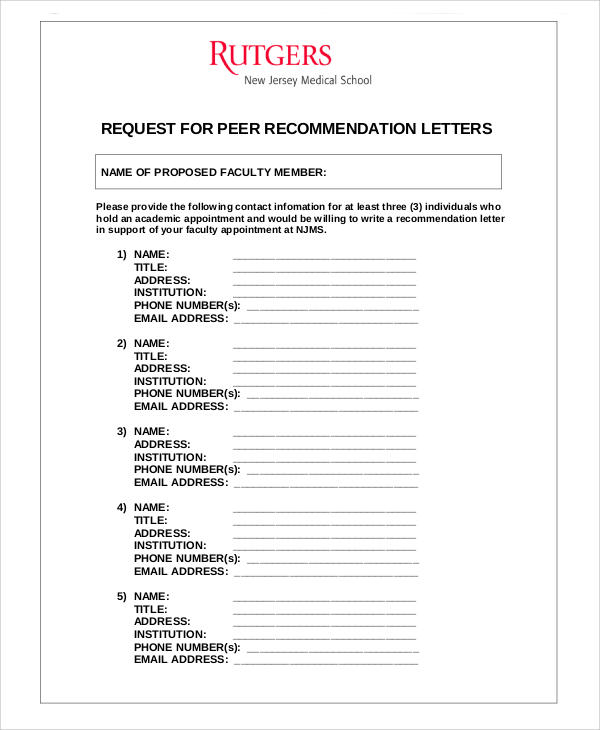 40+ Examples of Recommendation Letter Sample Templates - writing guidelines recommendation letter