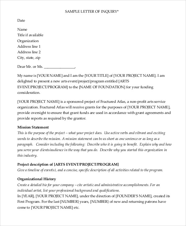 Sample Grant Proposal Letter - 9+ Examples in Word, PDF