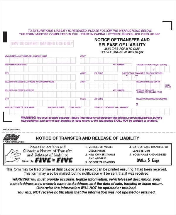 Sample Free Release of Liability Form - 9+ Examples in Word, PDF - free release of liability form