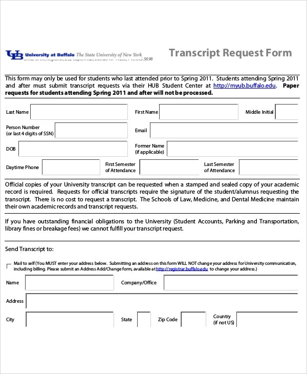 11+ Sample Student Request Forms Sample Templates