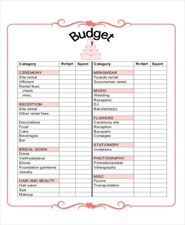 7+ Wedding Planner Printable Sample - Examples in Word, PDF