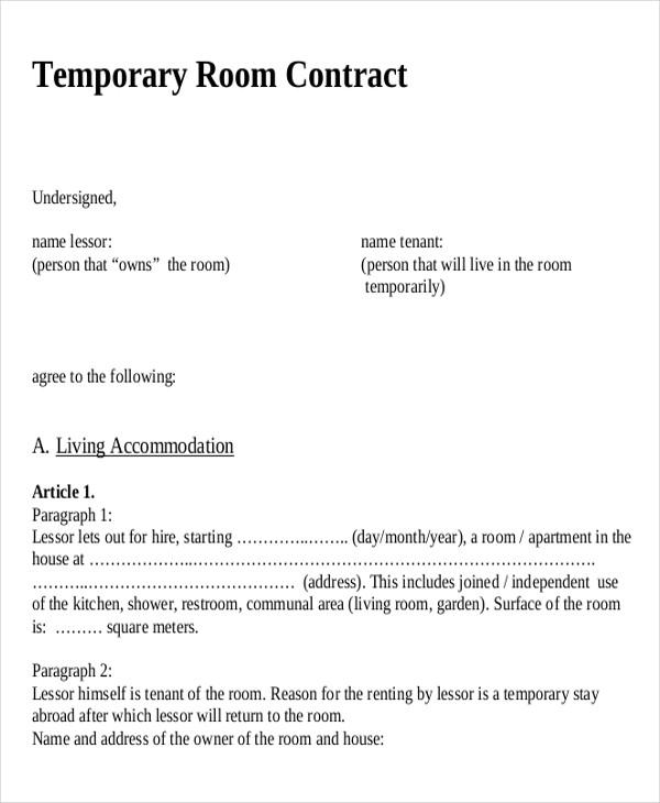 short term rent contract - Onwebioinnovate - Sample Short Term Rental Agreement
