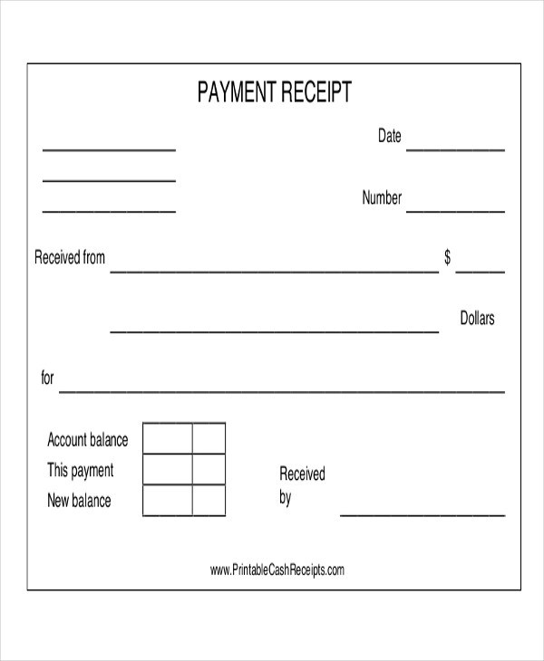 14+ Payment Receipt Acknowledgment \u2013 PDF, Word, Excel, Pages