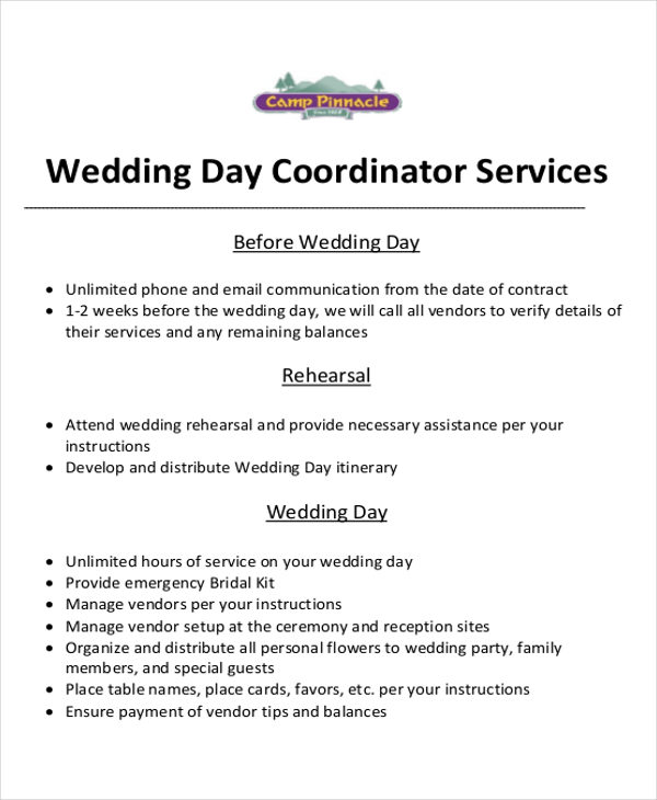 Event Planner Contract Wedding Event Planner Contract Sample - event planner contract