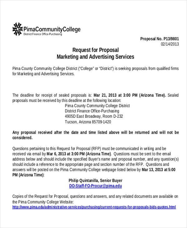 9+ Sample Advertising Proposal Letters \u2013 PDF, Word Sample Templates - Radio Advertising Proposal Template