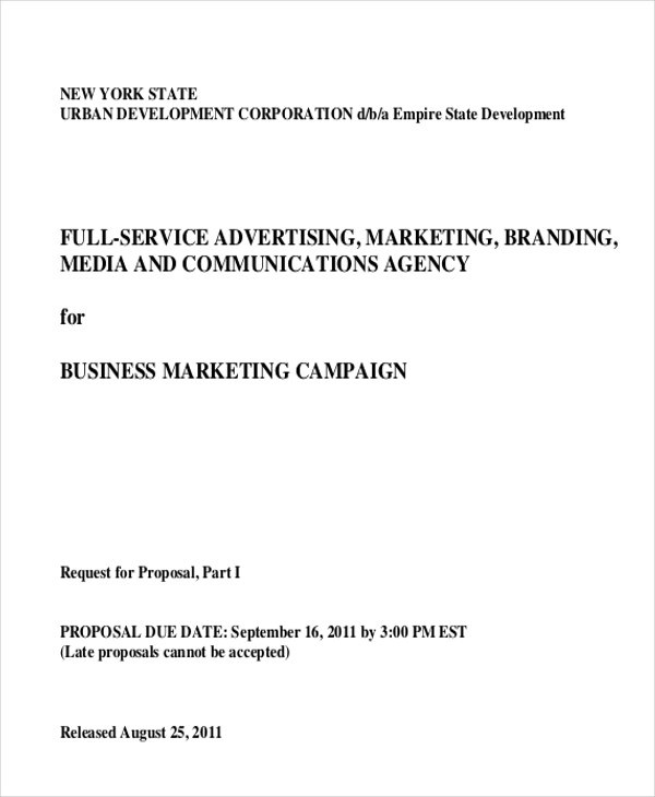 Sample Advertising Proposal Letter  9+ Examples In PDF, Word   Marketing Proposal  Letter