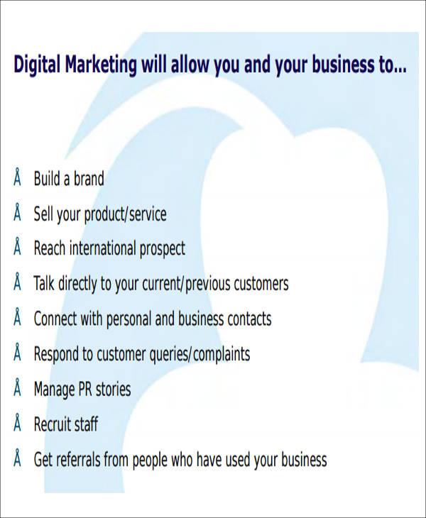 12+ Sample Digital Marketing Plan Sample Templates - digital marketing plan