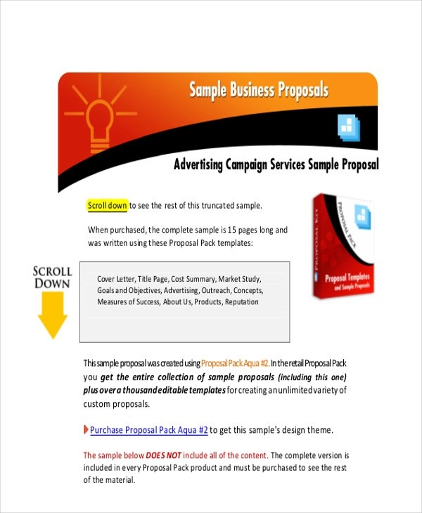 9+ Sample Advertising Proposal Letters \u2013 PDF, Word Sample Templates - Radio Advertising Proposal Template