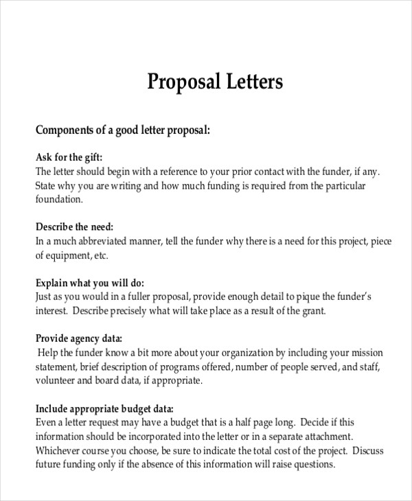 9+ Sample Advertising Proposal Letters \u2013 PDF, Word Sample Templates - letter of proposal