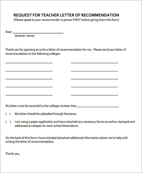 how to ask a person for a letter of recommendation