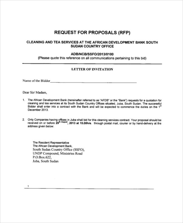 5+ Sample Cleaning Proposal Letters - PDF, Word