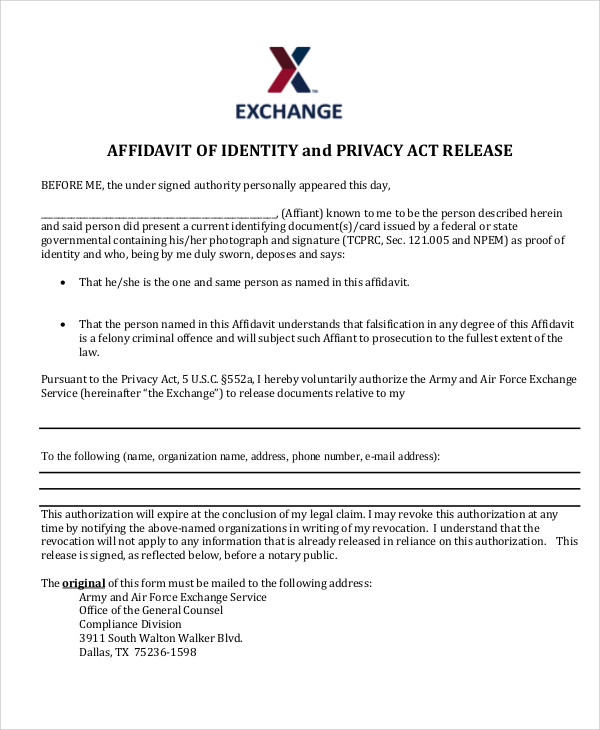 Sample Privacy Act Release Form - 9+ Examples in Word, PDF
