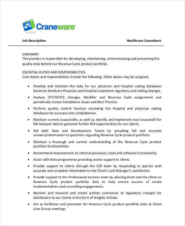 healthcare management resume sample