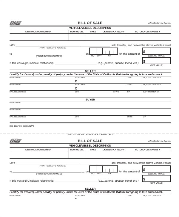 bill of sale form dmv - Josemulinohouse - bill of sale dmv