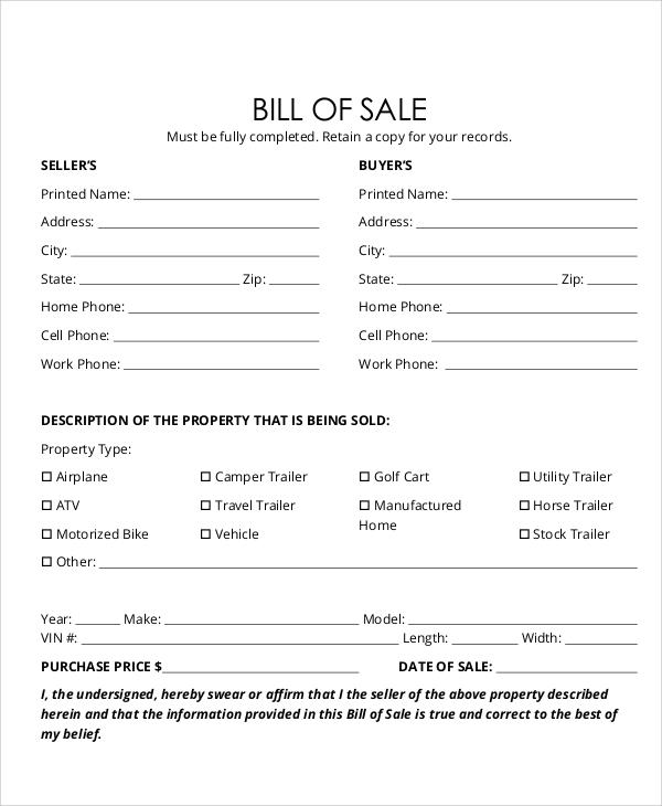 business bill of sale template - Acurlunamedia - free business bill of sale template