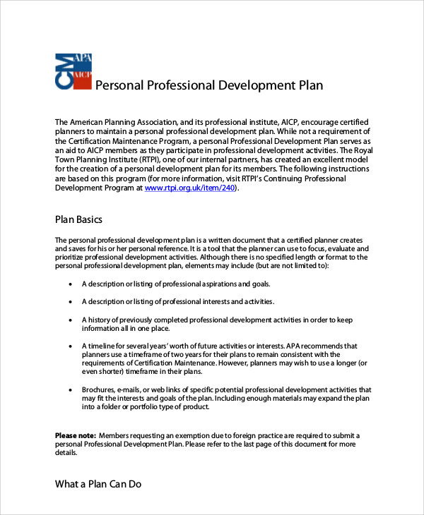 Development Plan Template employee development plan example with - personal development portfolio example