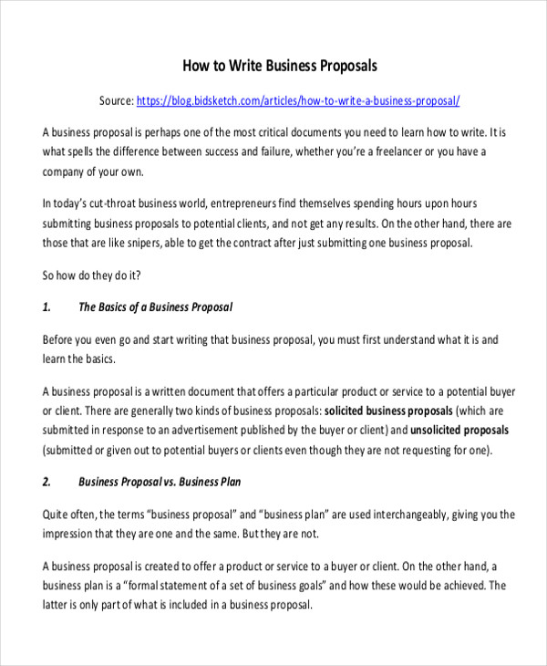 Sample Formal Proposal Letter - 7+ Example in PDF, Word - formal proposal example
