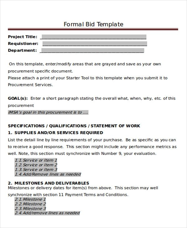 8 Sample Formal Proposal Letters Sample Templates