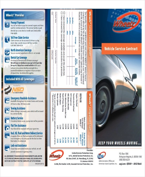 Vehicle Service Contract Sample   10+ Examples In Word, PDF   Vehicle  Service Contracts