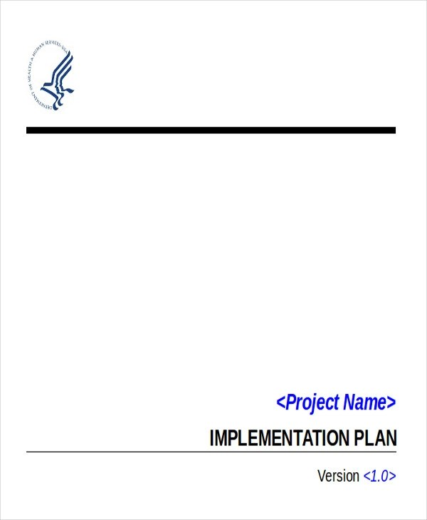Implementation Plan Example - 6+ Examples in Word, PDF - implementation plan template