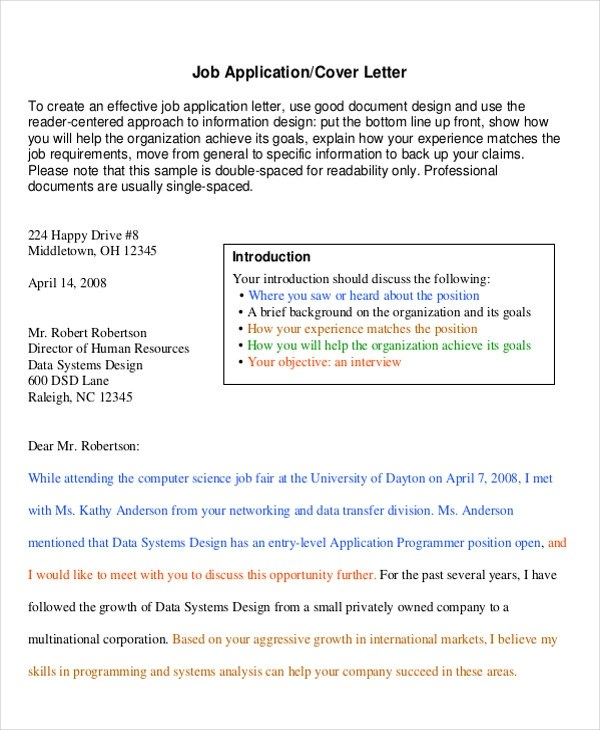 6+ Sample Professional Cover Letter - Free Sample, Example, Format