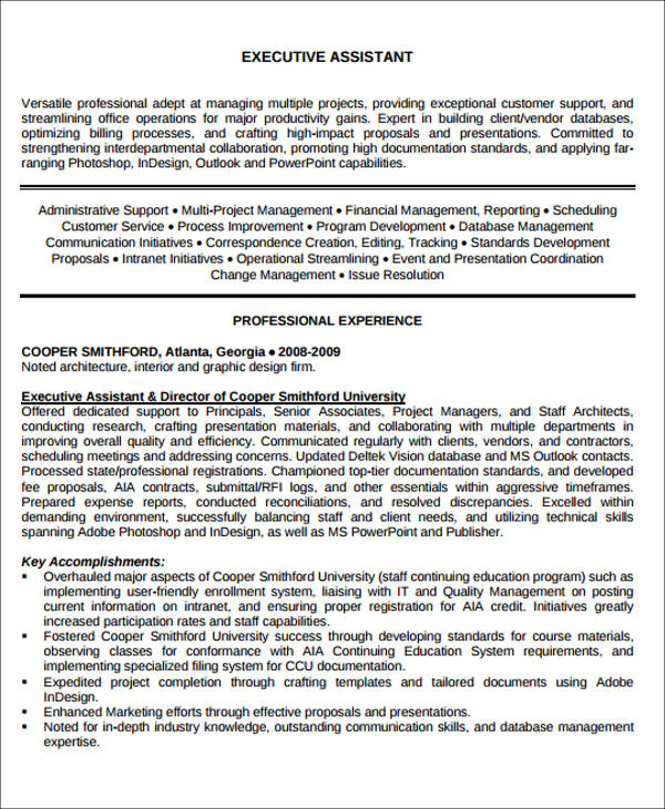 6+ Administrative Assistant Resume Objectives Sample Templates