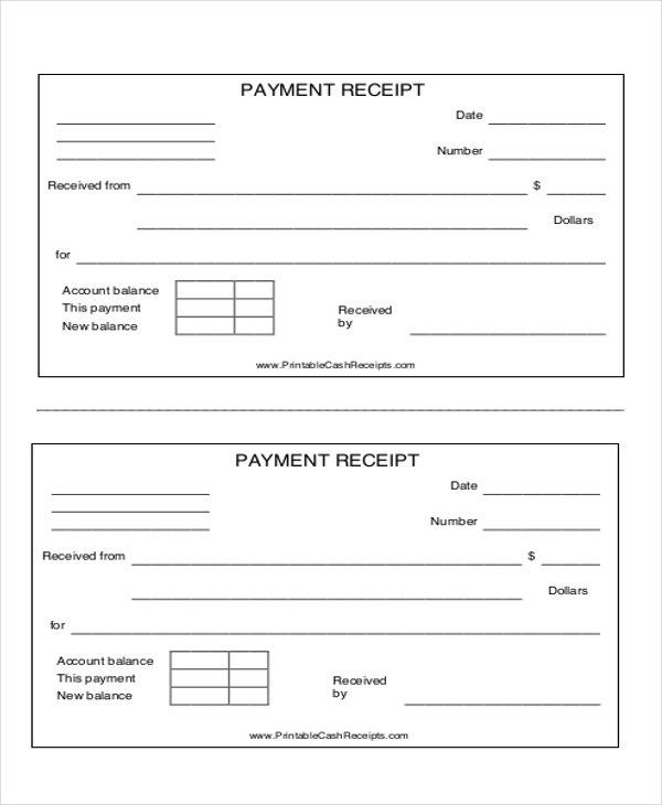 7+ Payment Receipt Formats \u2013 PDF, Word Sample Templates - payment received format