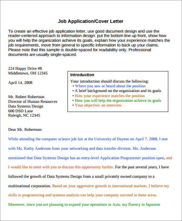 6+ Enclosure Cover Letter Sample Templates