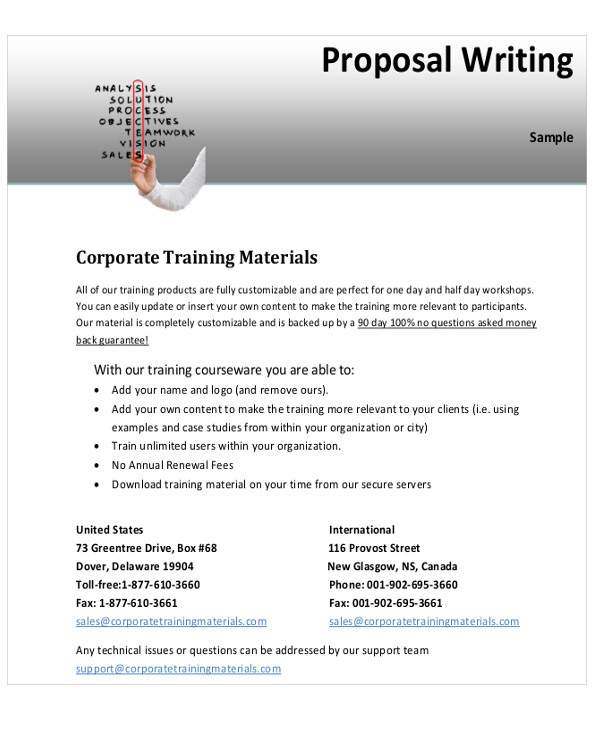 writing a training proposal example - Ozilalmanoof - training proposal template