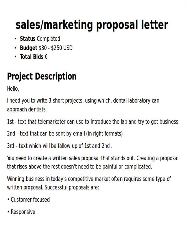 5+ Sample Marketing Proposal Letters Sample Templates - marketing proposal letter