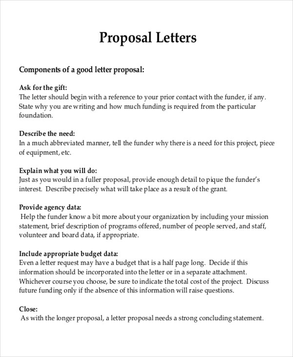 9+ Sample Project Proposal Letters Sample Templates