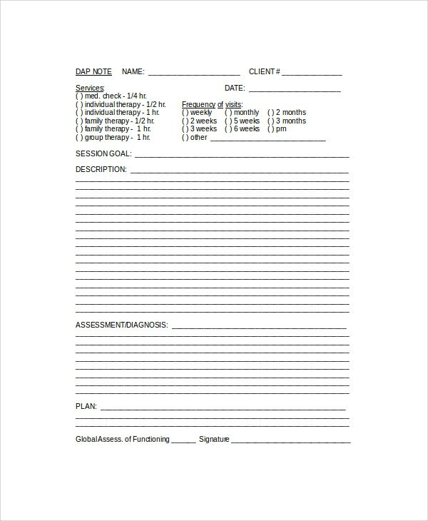 Contemporary Dap Note Photo - Best Resume Examples by Industry  Job - dap note