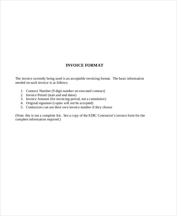 Download Contractor Invoice Template rabitahnet - contractor invoices