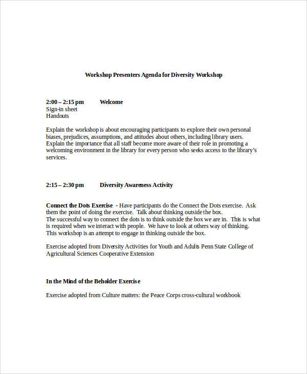 Workshop Agenda Template Gallery - Template Design Ideas
