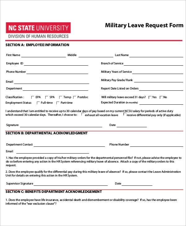 Employee Leave Form Disciplinary Action Form 23 40 Employee - format of leave application form