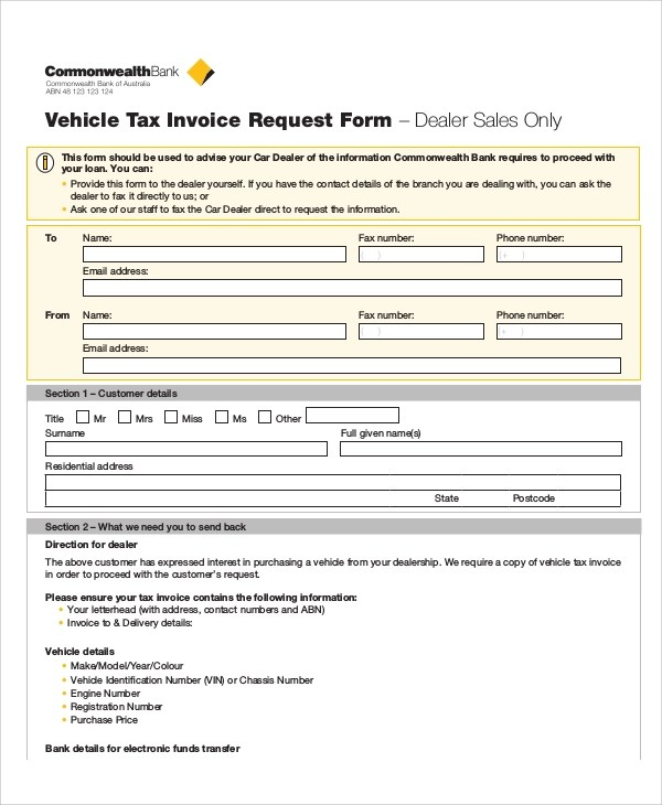 Sample Invoice Request Form - 9+ Examples in Word, PDF - example invoice